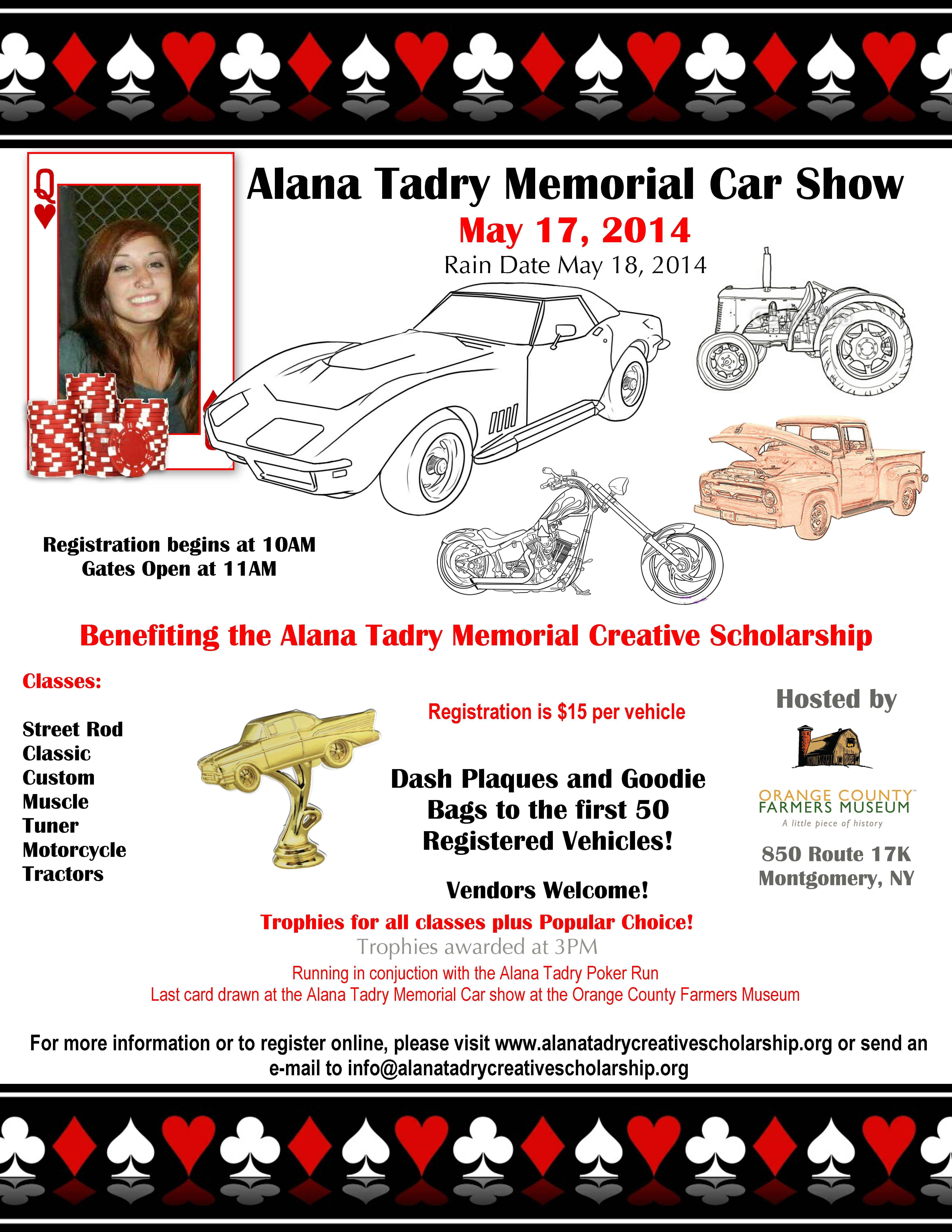 Car Show Flyer 2014 Orange County Farmers Museum